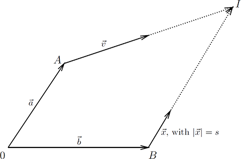 diagram of a moving object to be intercepted by a projectile